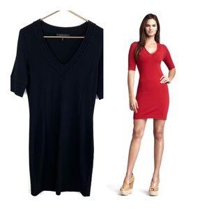 Rag & Bone Majorca Knit Bodycon Dress Medium Black